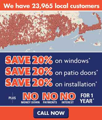new england april window sale